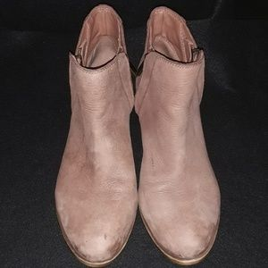 Lucky Brand Brenon Tan Leather Booties 8.5M